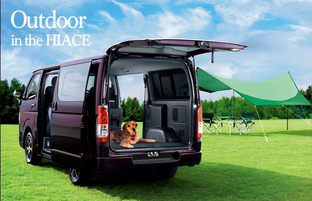 Outdoor in the HIACE